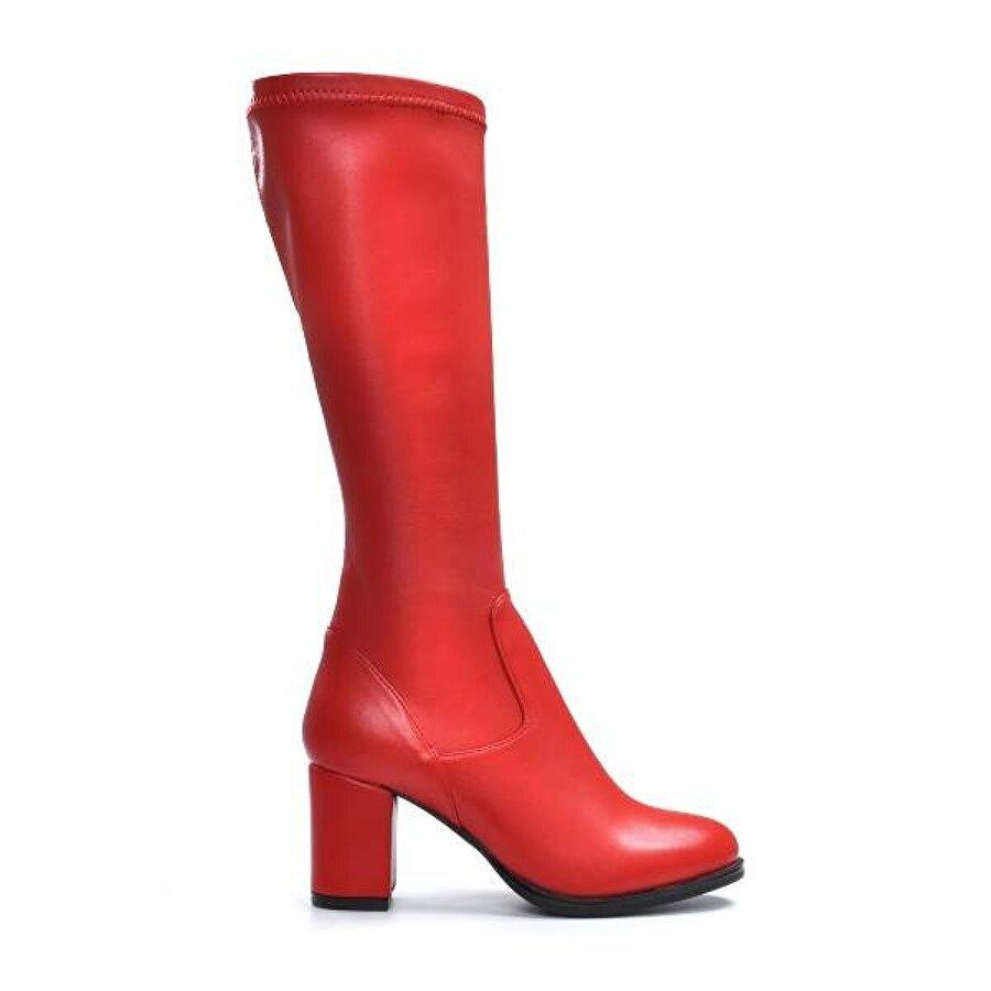 Vizon Ayakkabı Kadın  Kırmızı Çizme VZN19-135K