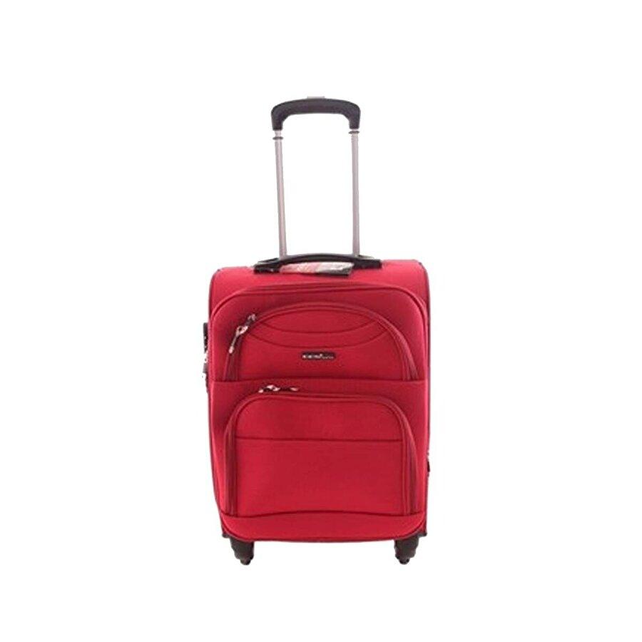 Ççs 00409 Kırmızı Orta Boy Kumaş Valiz