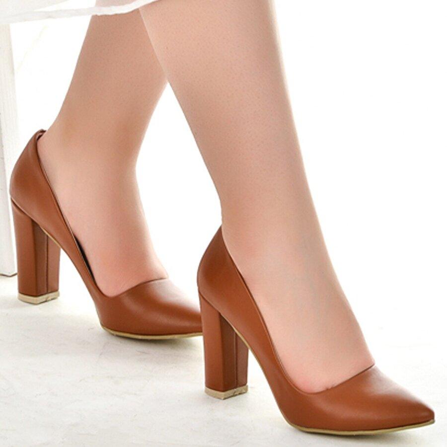 Ayakland 137029-311 Cilt 8 Cm Topuk Bayan Ayakkabı TABA