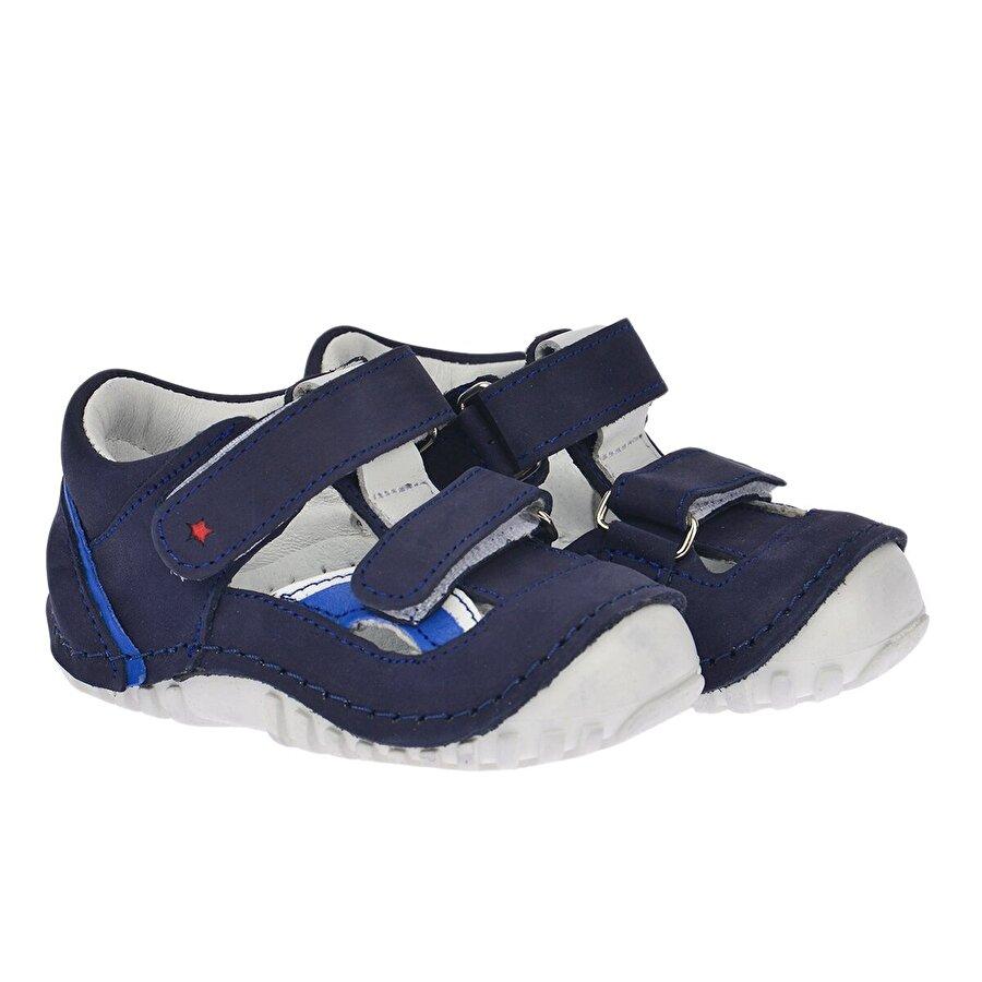 Kiko Kids Teo 112 %100 Deri Ortopedik Cırtlı Erkek Çocuk  Sneaker Ayakkabı Lacivert
