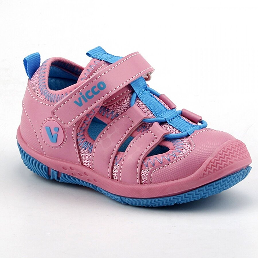 VICCO 332.Z.300 Sunny Pembe Kız Çocuk Günlük Ortopedik Spor Sandalet Terlik