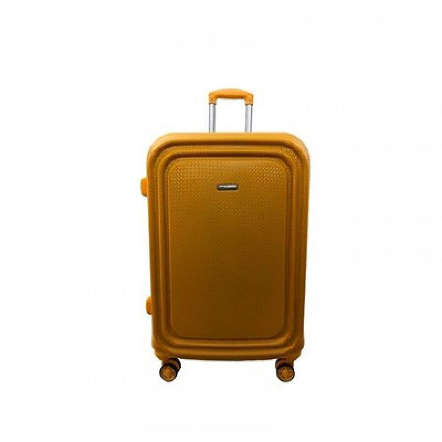 EHS 05159 Sarı Büyük Boy Abs Valiz