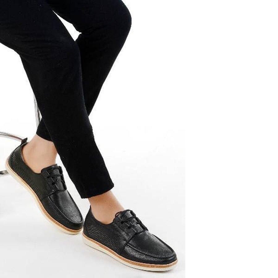 Ayakland 017 Deri Günlük Erkek Jel Topuk Ayakkabı SİYAH
