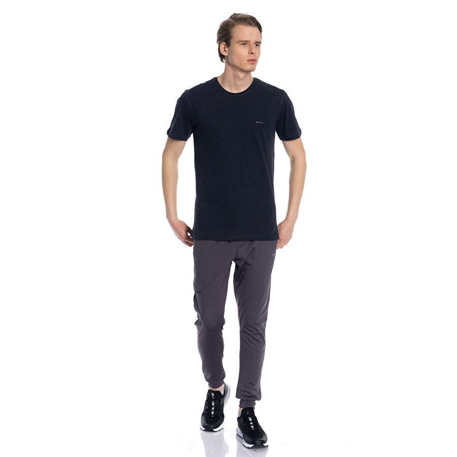Slazenger SANDER Koyu Gri Erkek T-Shirt