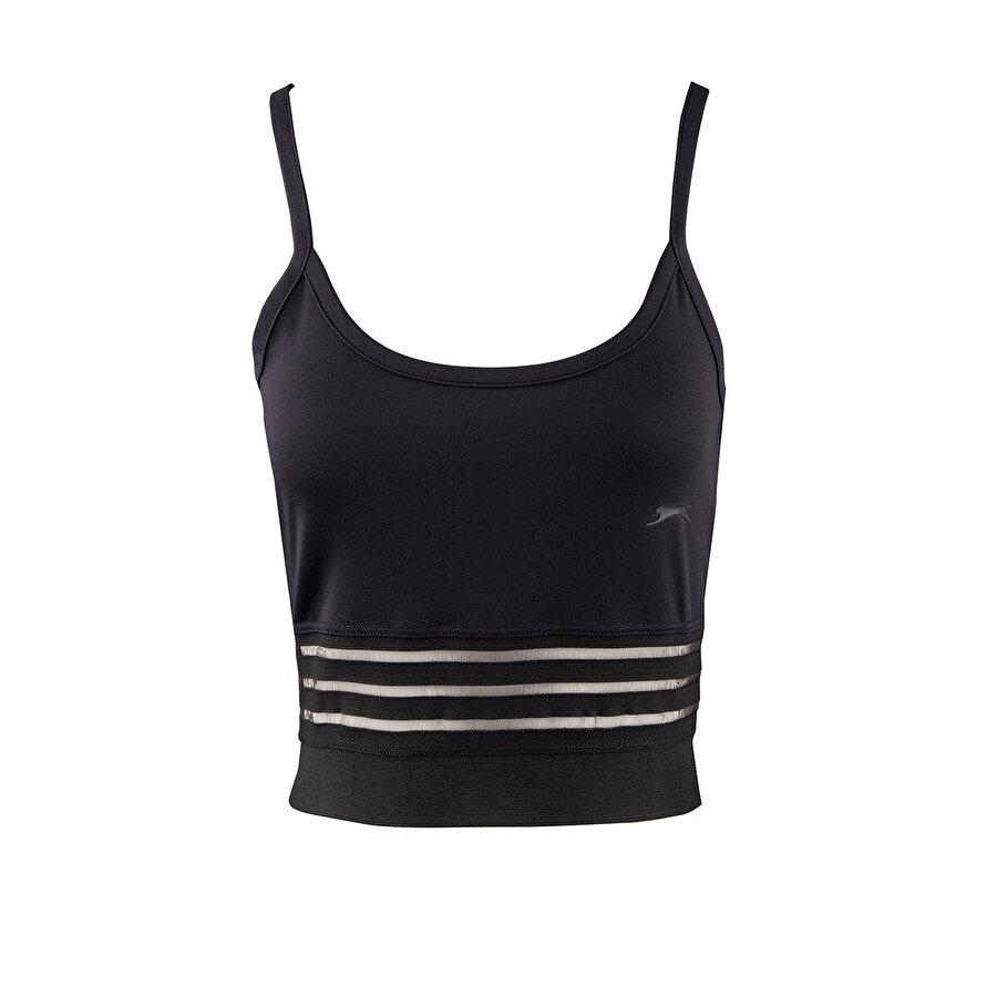 Slazenger PUSH Siyah Kadın Kısa Kol Tişört