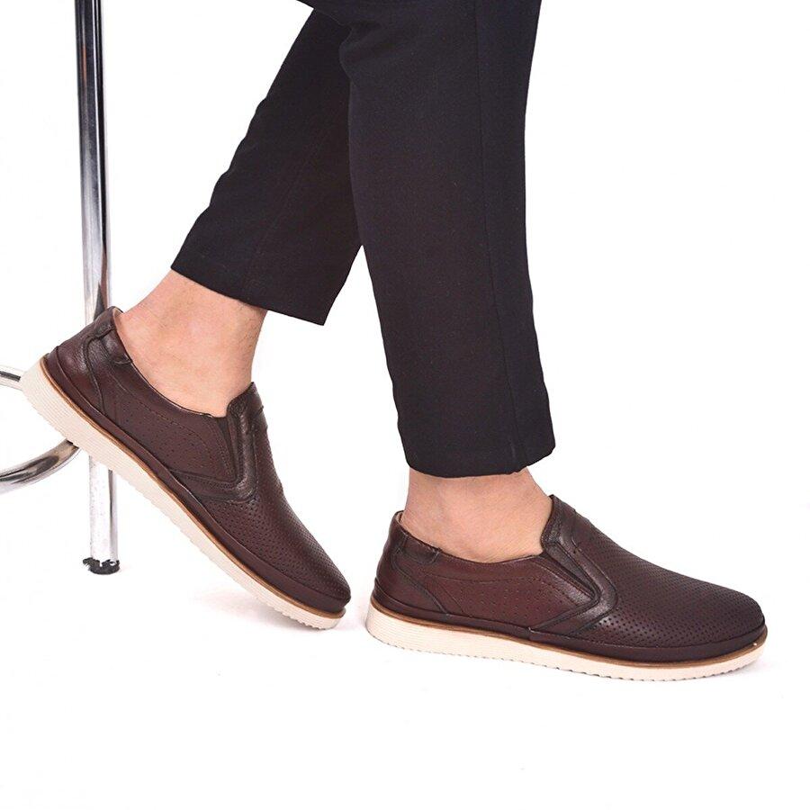 AYAKLAND Ant 541 Günlük Deri Erkek Ayakkabı Kahverengi