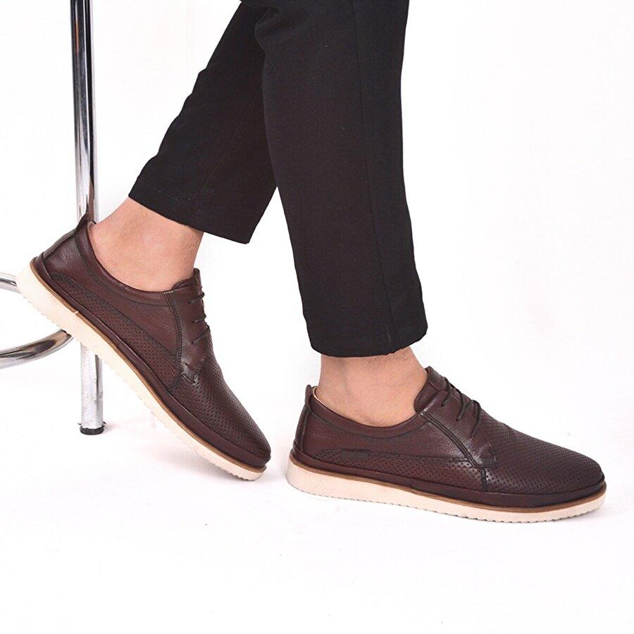 AYAKLAND Ant 540 Deri Erkek Günlük Ayakkabı Kahverengi