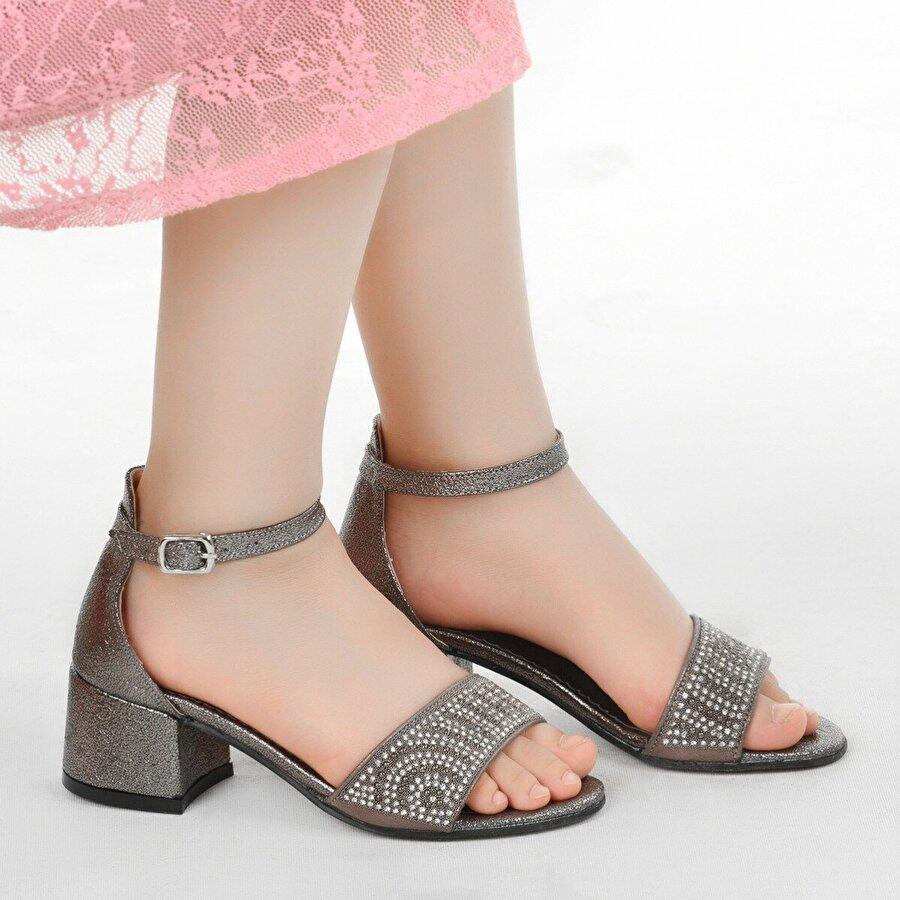 Kiko Kids Kiko 765 Vakko Günlük Kız Çocuk 3 Cm Topuk Sandalet Ayakkabı PLATİN