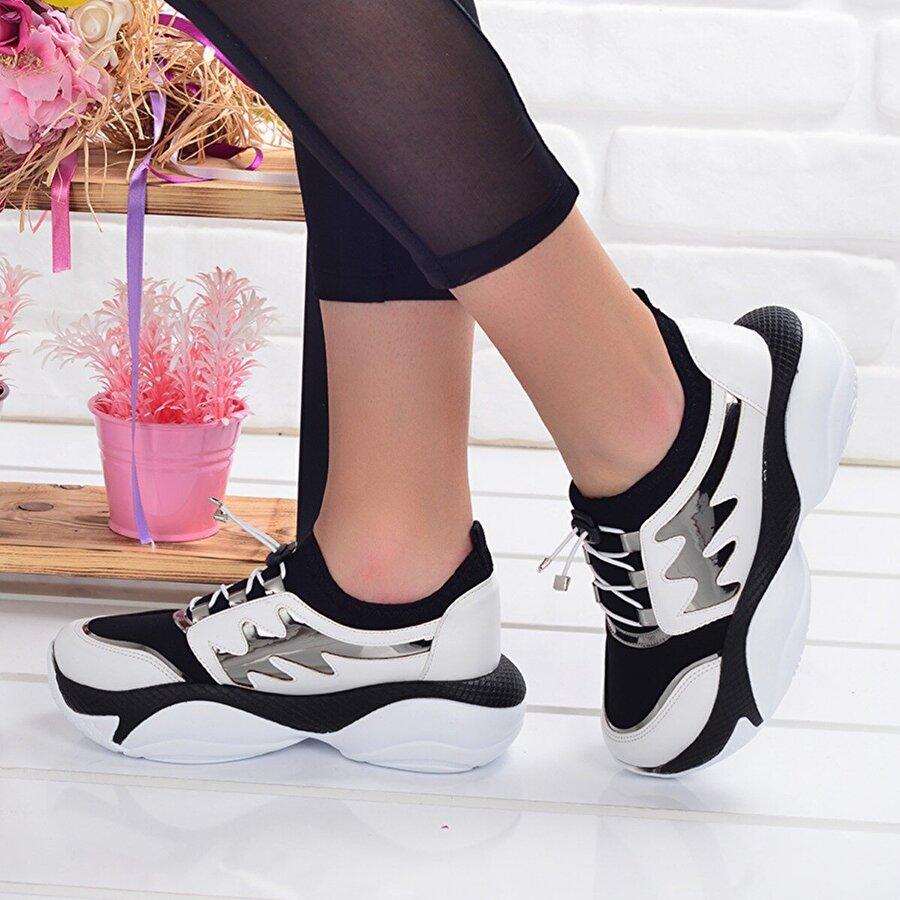 Ayakland Ljn 475 Günlük Bayan Fileli Spor Ayakkabı BEYAZ