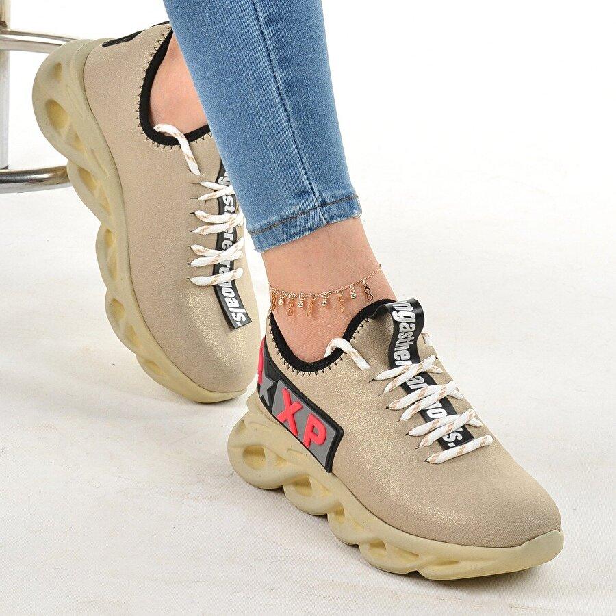 Ayakland Vltn 694 Günlük Yürüyüş Bayan Spor Ayakkabı ALTIN