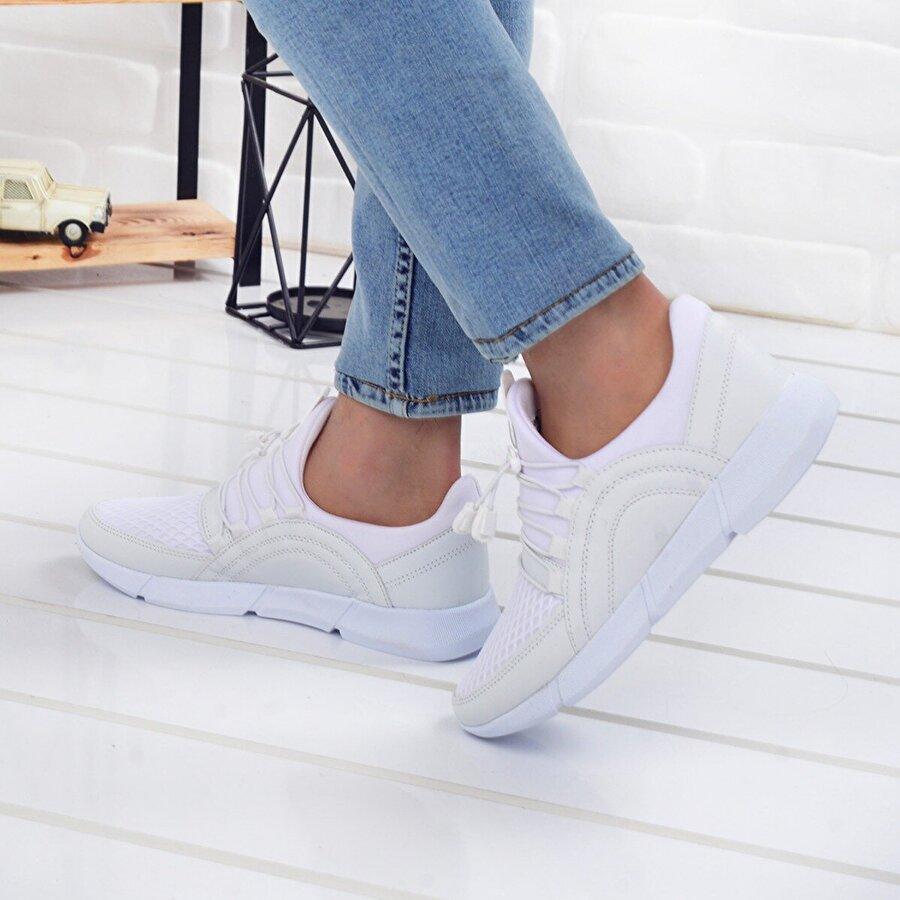 Jump 25346 Günlük Yürüyüş Erkek Spor Ayakkabı BEYAZ
