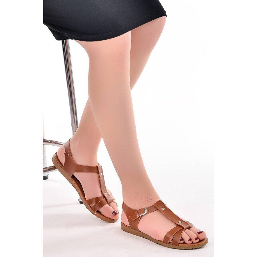 AYAKLAND 97544-318 Cilt 5 Cm Topuk Bayan Sandalet Ayakkabı LACİVERT