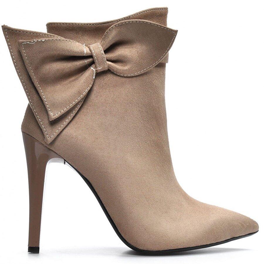 Vizon Ayakkabı Kadın  Vizon-Süet Bot VZN19-118K