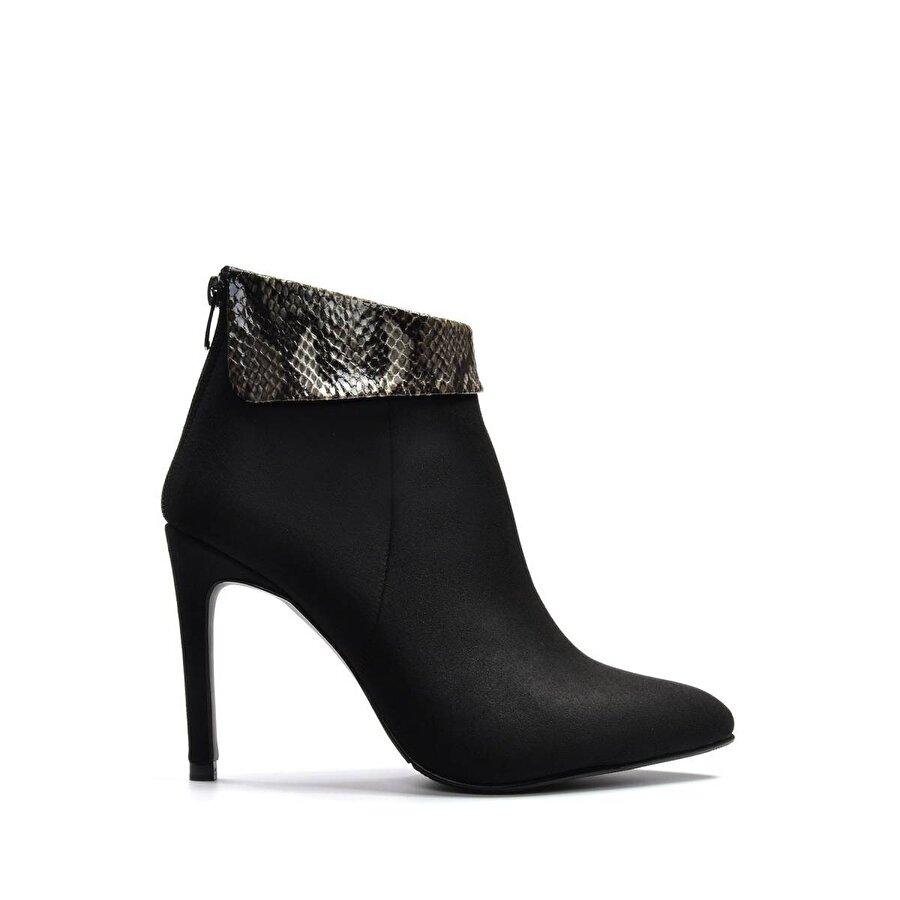 Vizon Ayakkabı Kadın  Siyah-Süet Bot VZN19-121K