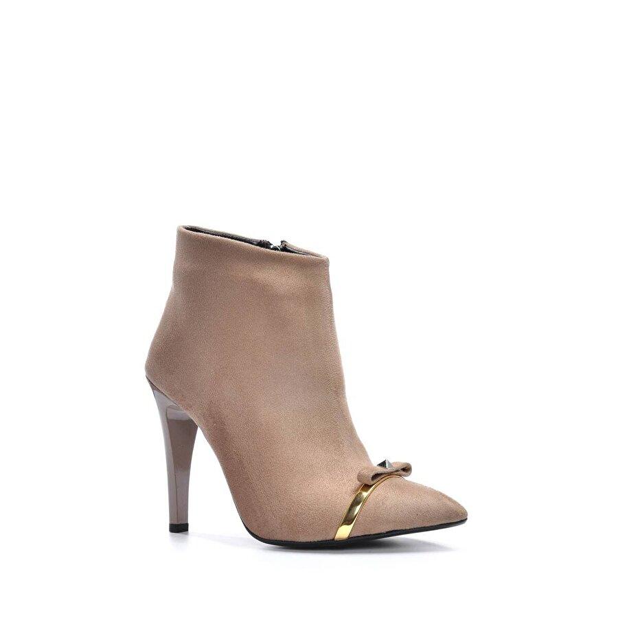 Vizon Ayakkabı Kadın  Vizon-Süet Bot VZN19-119K