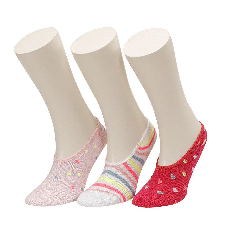 I Cool FLYCORN 3 LU SUBA-G PEMBE MULTI Kız Çocuk Çorap