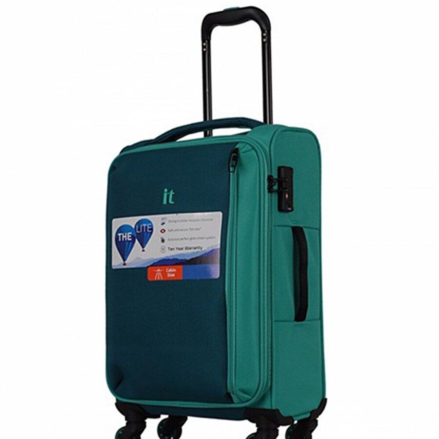 IT LUGGAGE 02284 Yeşil Orta Boy Kumaş Valiz