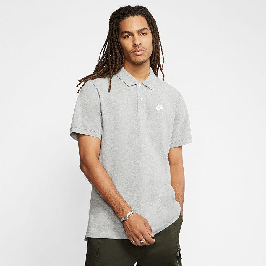 Nike M NSW CE POLO MATCHUP PQ Gri Erkek T-Shirt