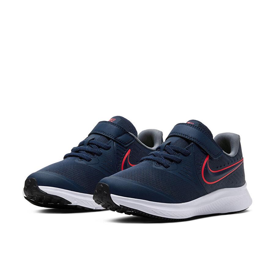 Nike STAR RUNNER 2 (PSV) Lacivert Erkek Çocuk Koşu Ayakkabısı