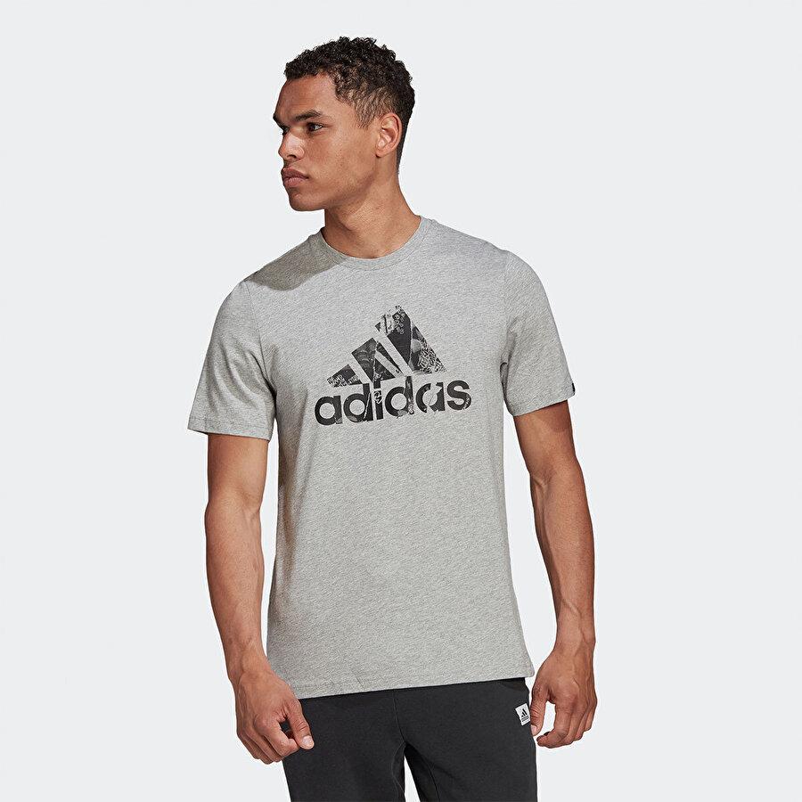 adidas M PHT LG T Gri Erkek T-Shirt