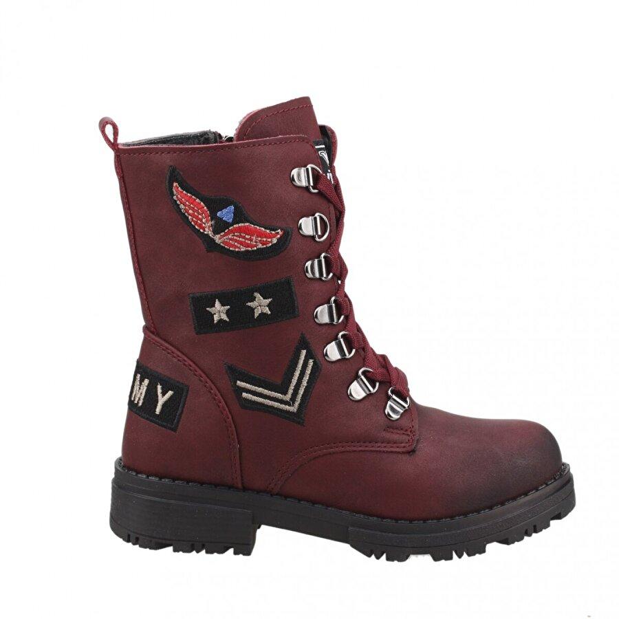 TWİNGO 610 Kışlık İçi Termal Kürklü Günlük Kız Çocuk Bot Ayakkabı BORDO