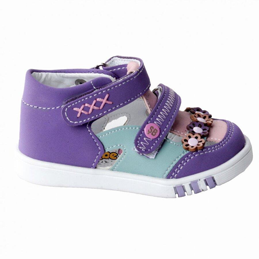 Şirin Bebe Kiko Şb 2223-28 Orto pedik Kız Çocuk İlk Adım Ayakkabı Sandalet Mor-Pudra