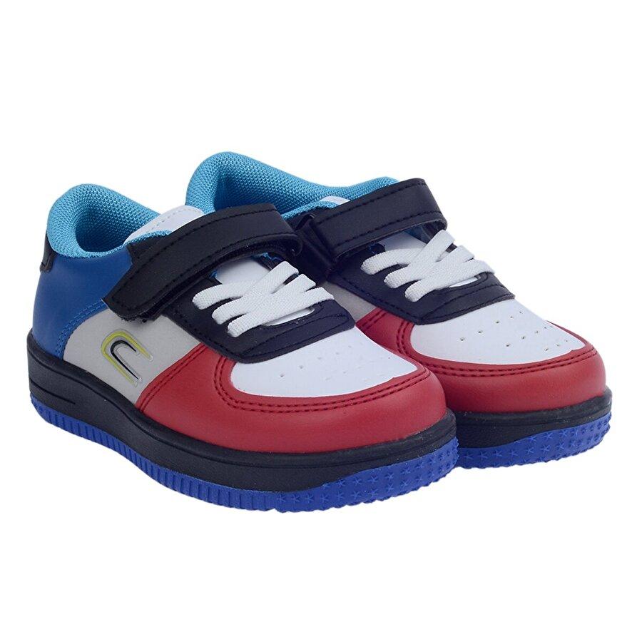 Kiko Kids Kiko Ats Günlük Cırtlı Kız/Erkek Çocuk Spor Ayakkabı BEYAZ-KIRMIZI