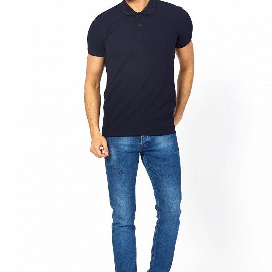 Twenty3 Erkek Basic Likralı Polo Yaka Pike T-Shirt