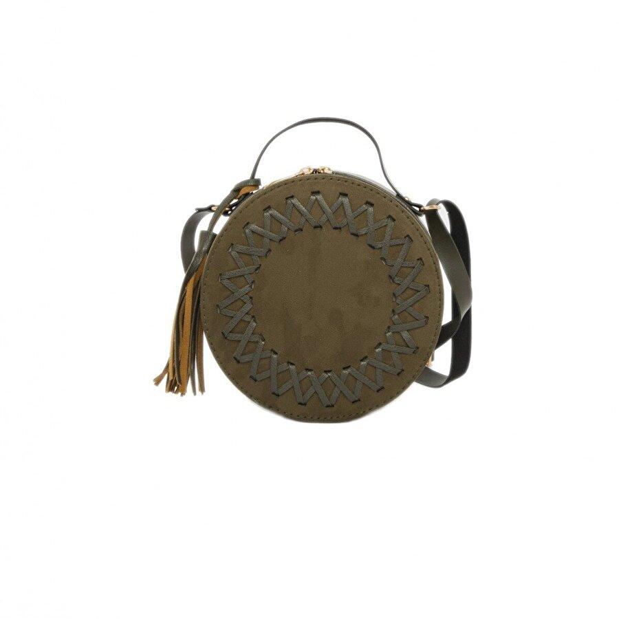 Bagmori Örgü Detaylı Davul Çanta