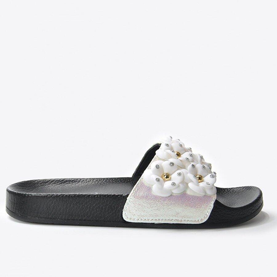 Vizon Ayakkabı Kadın  Beyaz Terlik VZN20-169Y