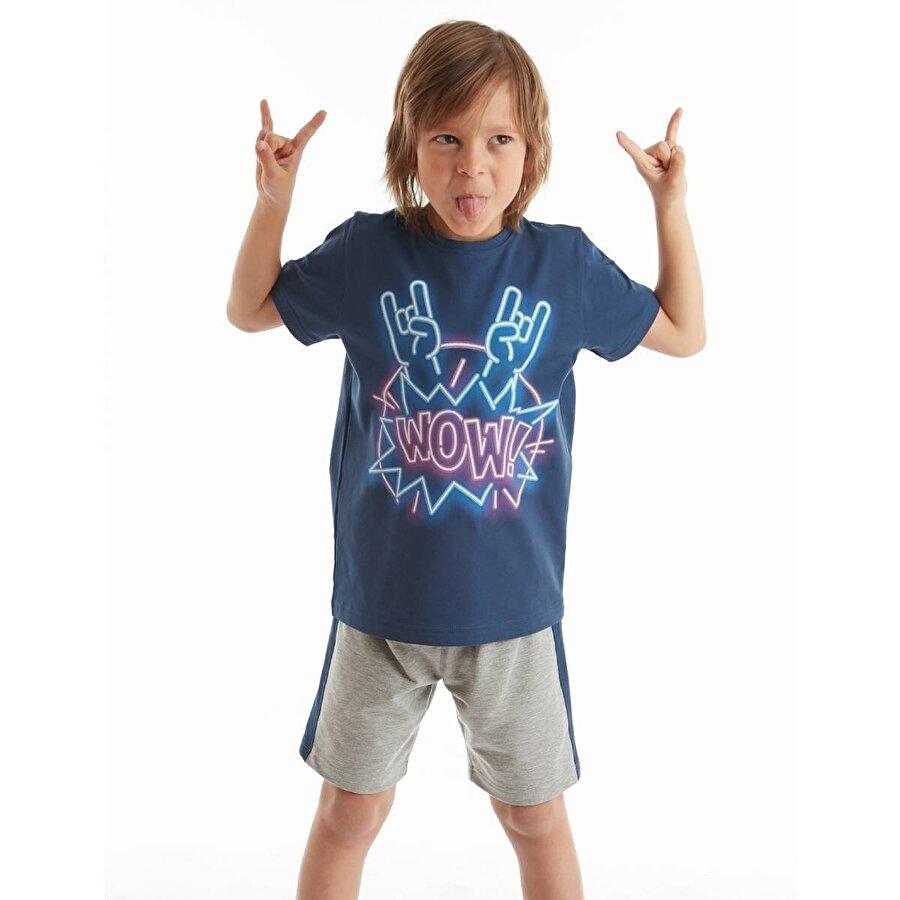 Mushi Wow Rock Erkek Çocuk Şort Takım