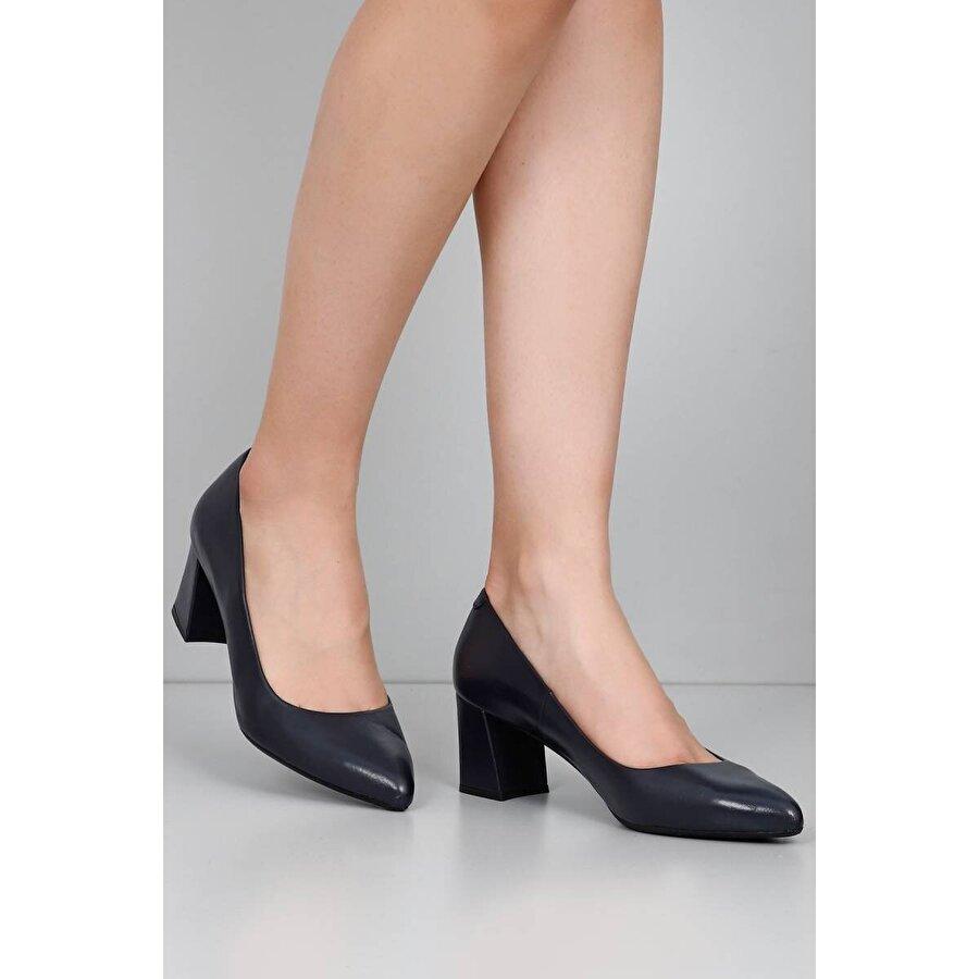Gön Hakiki Deri Kadın Topuklu Ayakkabı 13457