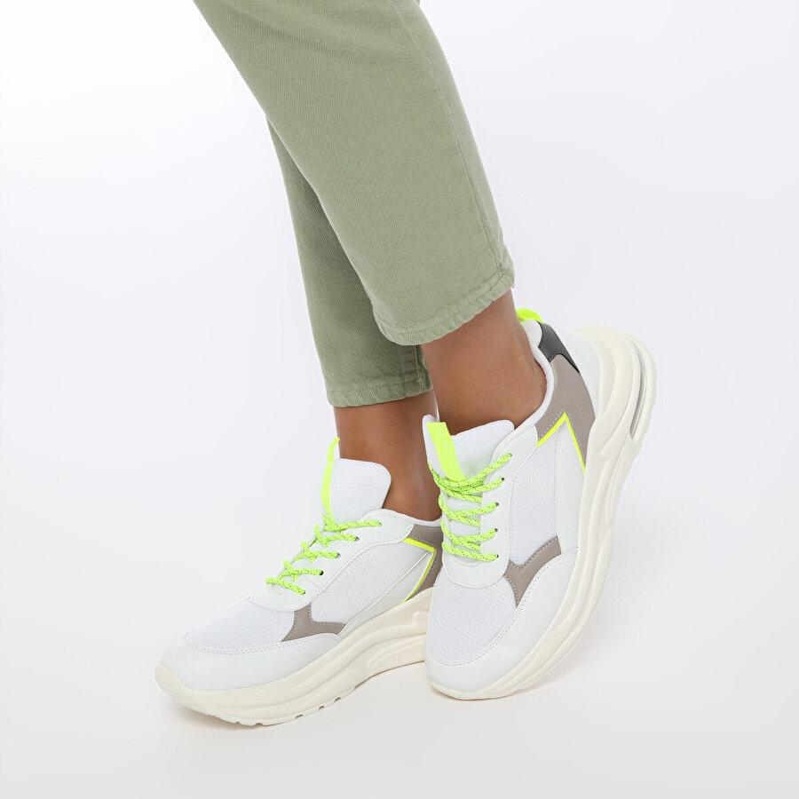 Kinetix LADUE Beyaz Kadın Sneaker Ayakkabı