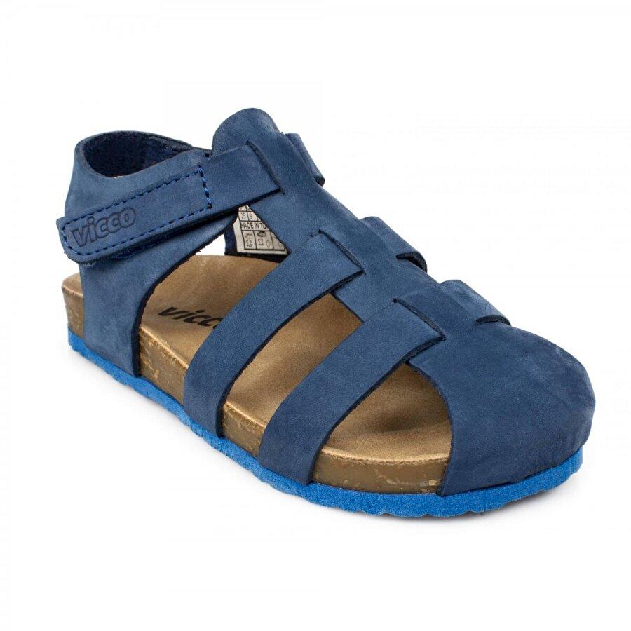 VICCO 905.p20Y.080 Patik Deri Mavi Çocuk Sandalet
