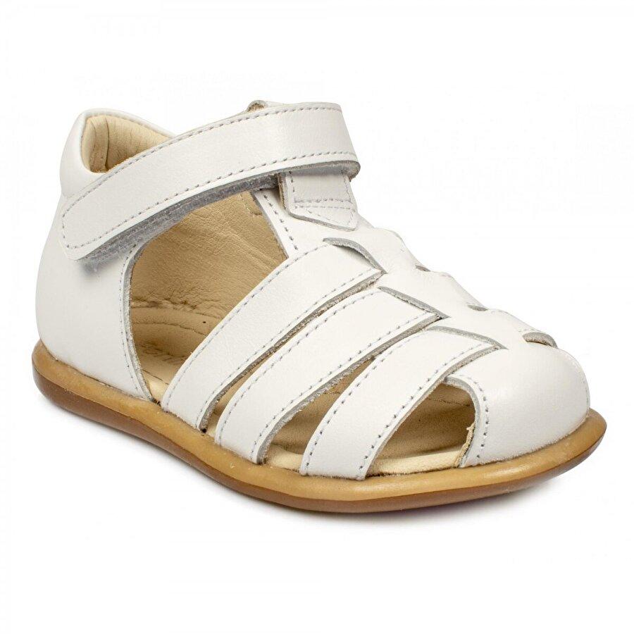 Perlina 194B Ortopedik Cırtlı Beyaz Çocuk Sandalet