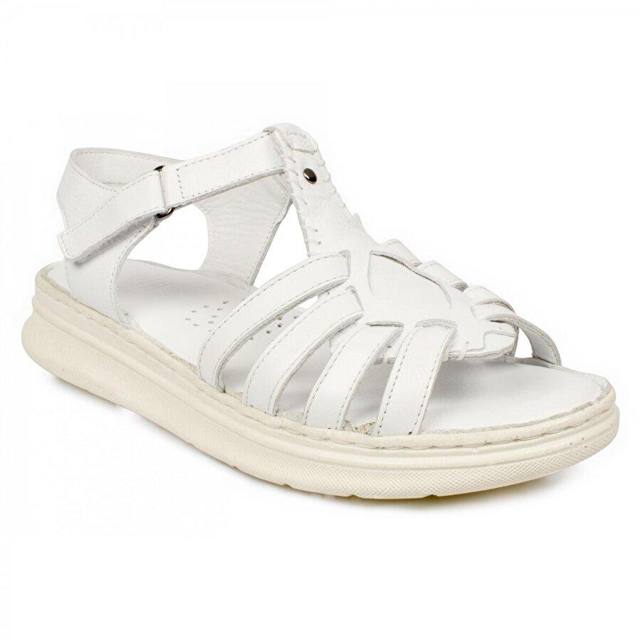 Stella 20277Z Casual Günlük Beyaz Kadın Sandalet
