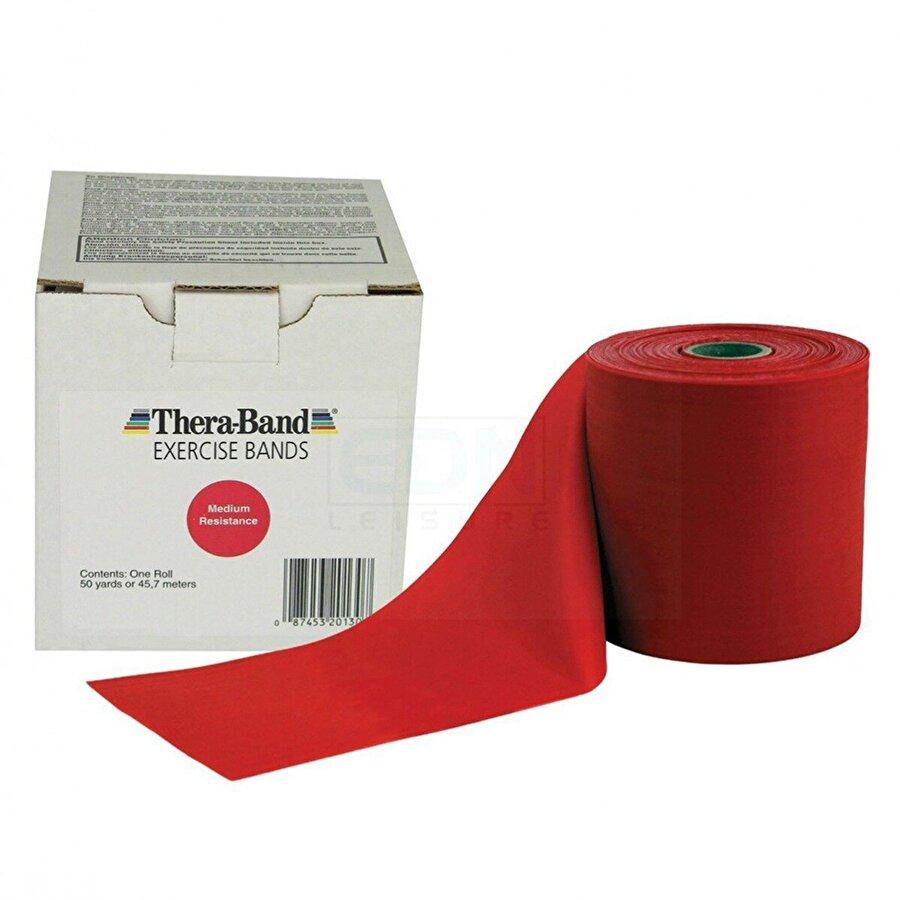 Theraband Thera-Band 50130 Egzersiz Bandı 45 Metre Orta Sert KIRMIZI