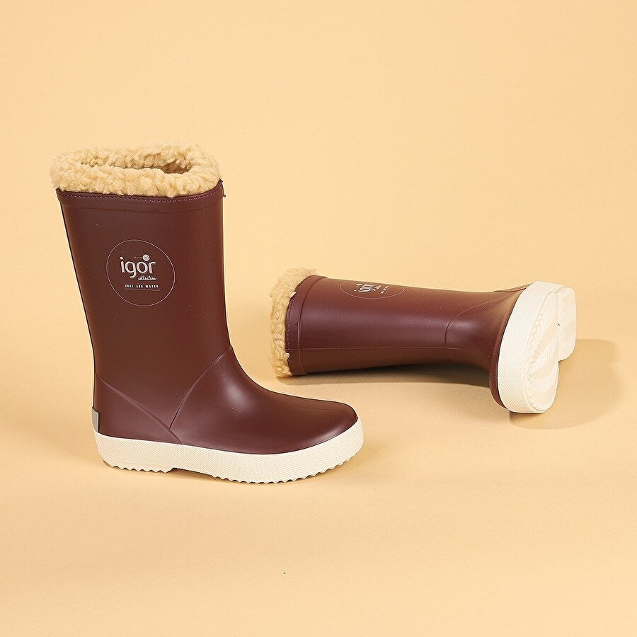 Igor İgor W10207 Splash Nautico Erkek/Kız Çocuk Su Geçirmez Yağmur Kar Çizmesi BORDO