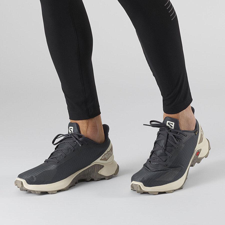 Salomon ALPHACROSS BLAST GTX GRI BEYAZ Erkek Koşu Ayakkabısı