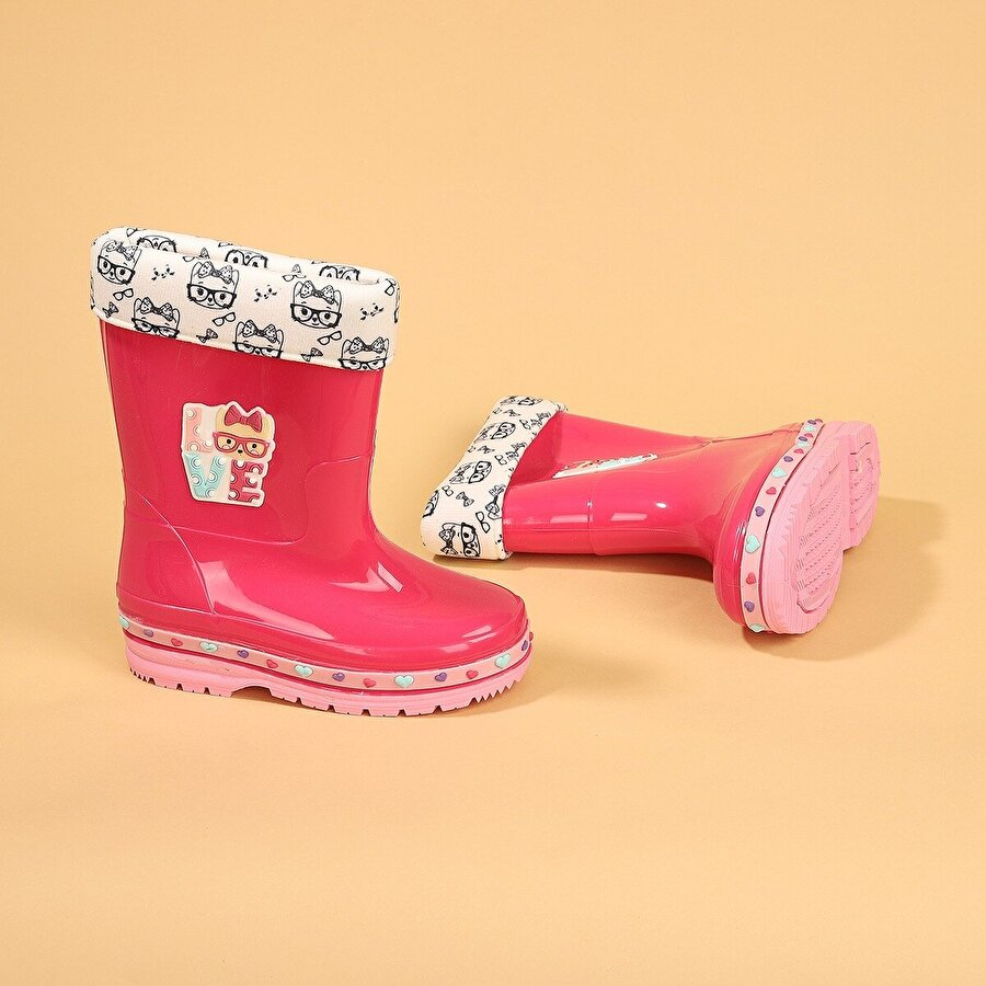 GEZER 00575-560 Yağmur Su Geçirmez Kız Çocuk Çizme Bot FUŞYA
