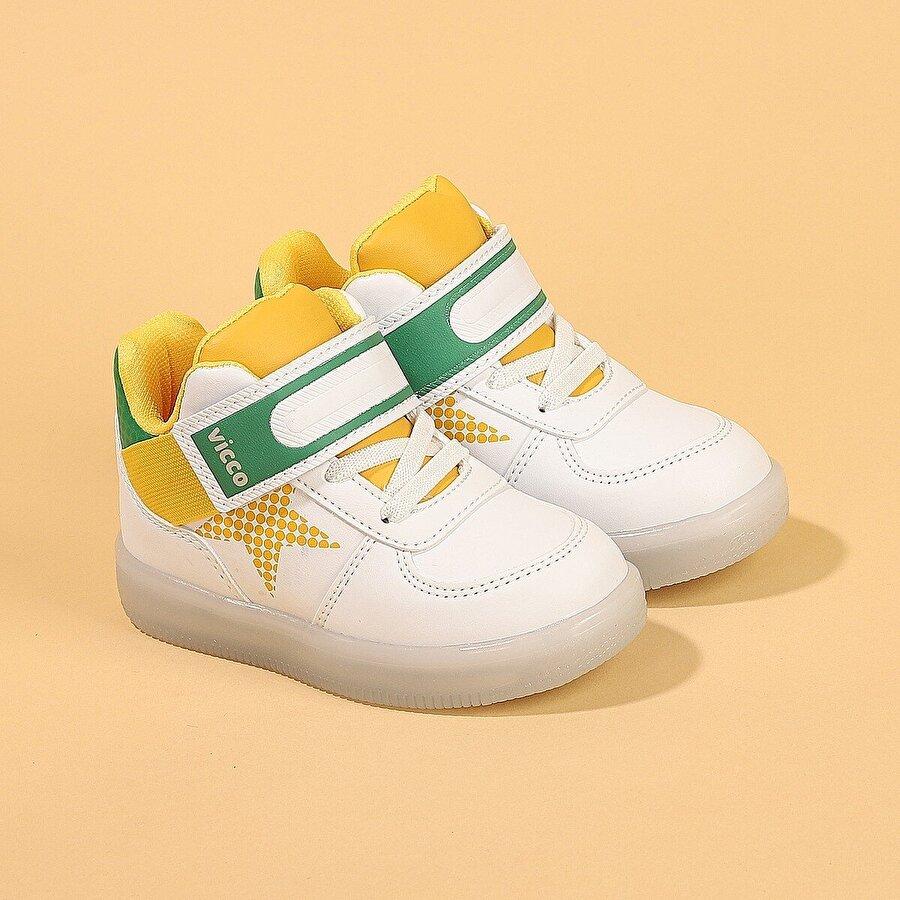 VICCO 220.B20K.106 Magic Kız/Erkek Çocuk Işıklı Bot Ayakkabı BEYAZ