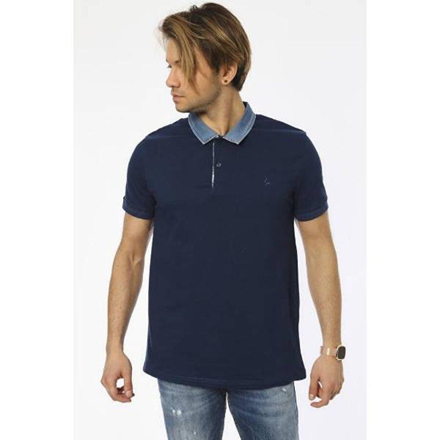 Louis Park Büyük Beden Jean Yaka Pike Polo T.Shirt