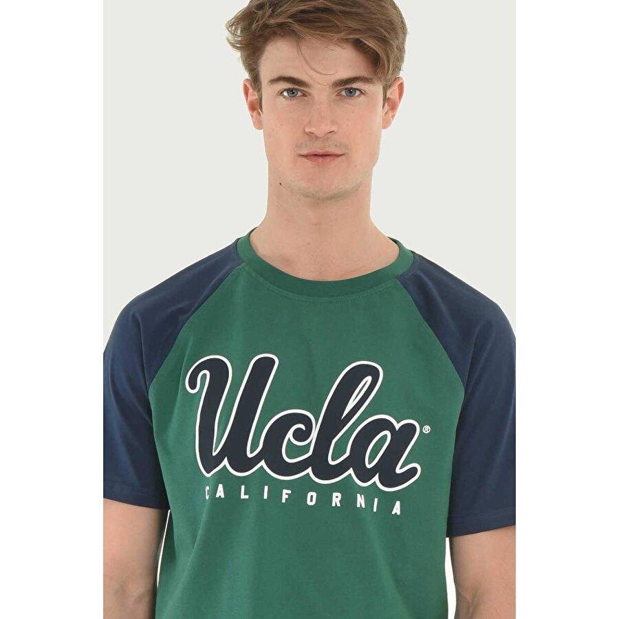 Ucla CANYON Yeşil Bisiklet Yaka Erkek T-shirt