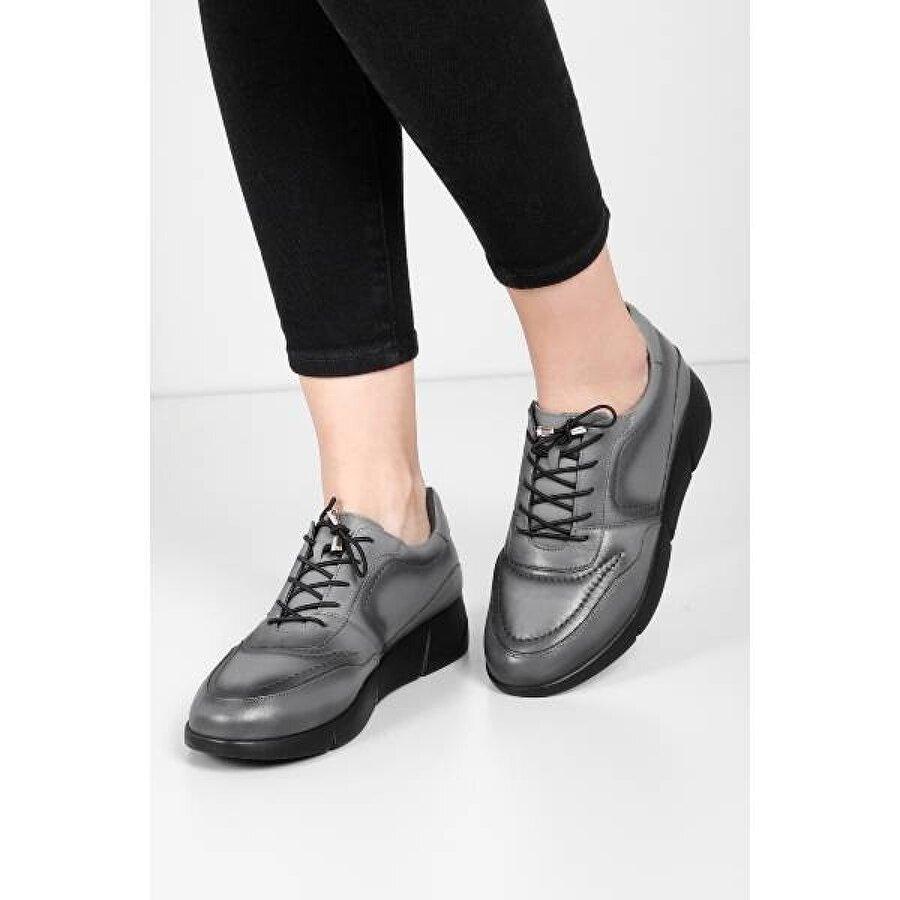 Gön Hakiki Deri Kadın Sneaker 45204