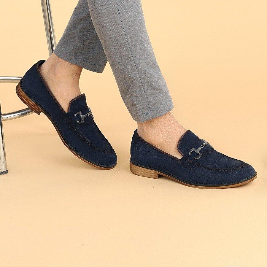 Ayakland 2700 Süet Günlük Erkek Klasik Ayakkabı LACİVERT