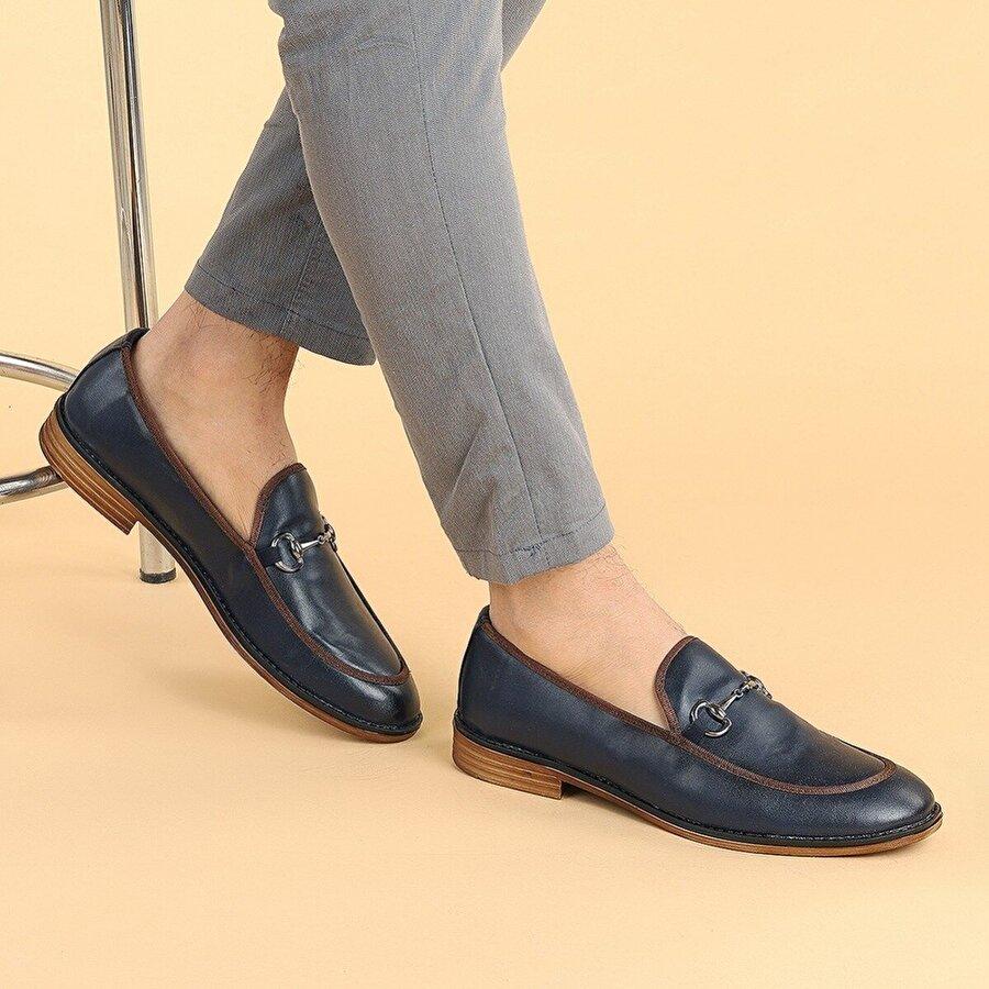 Ayakland 2300 Cilt Günlük Erkek Klasik Ayakkabı LACİVERT