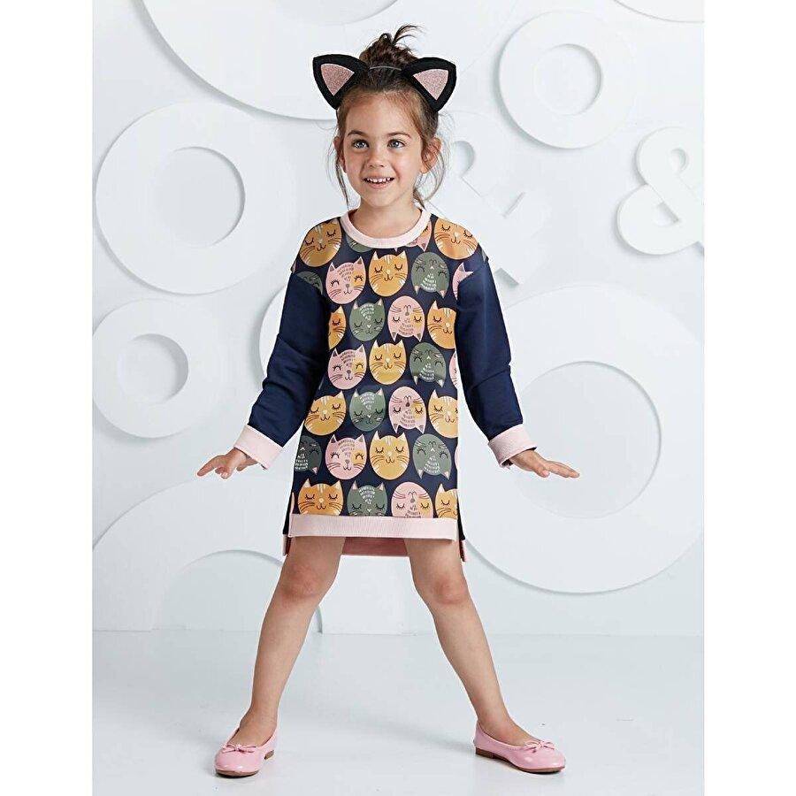 Mushi Kediler Kız Elbise