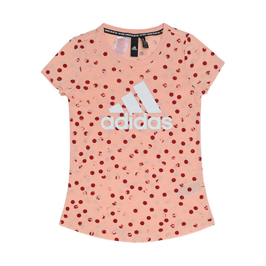 adidas YG MH GRA TEE Pembe Kız Çocuk Kısa Kol Tişört