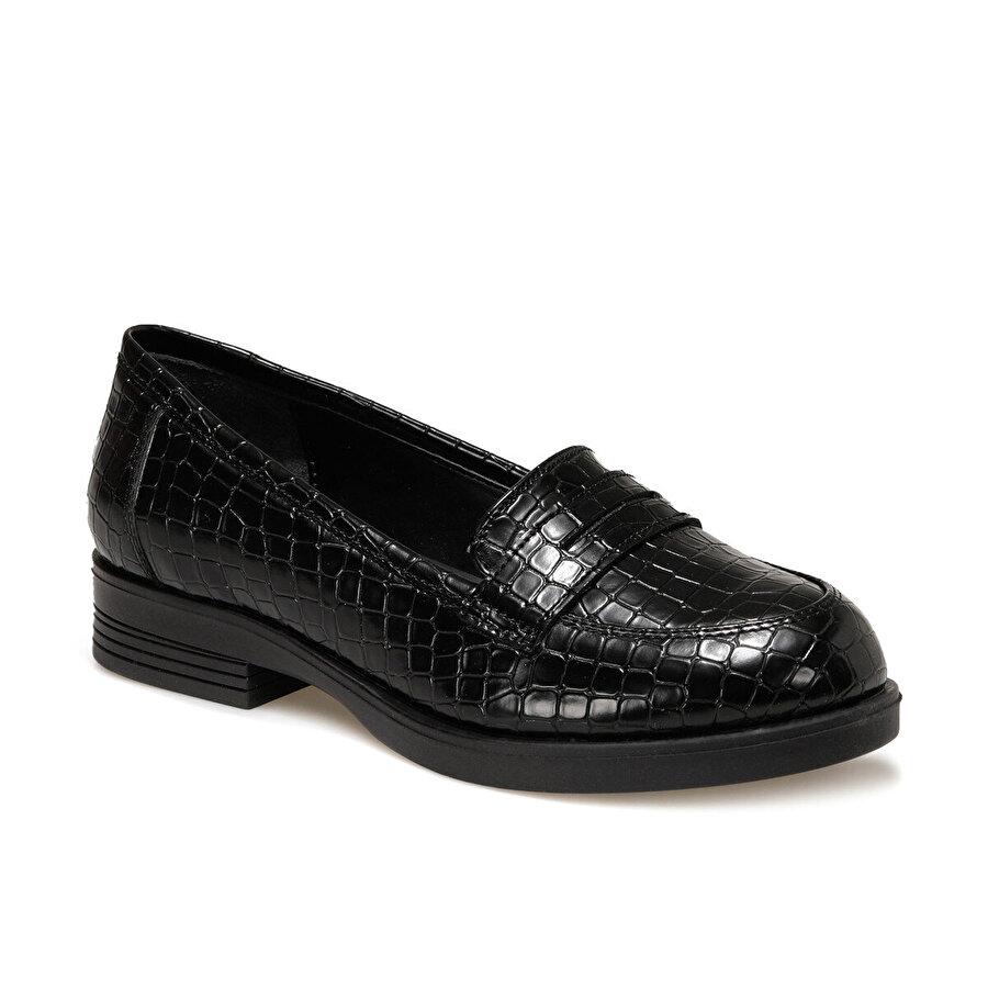 Polaris 316057.Z Siyah Kadın Loafer Ayakkabı