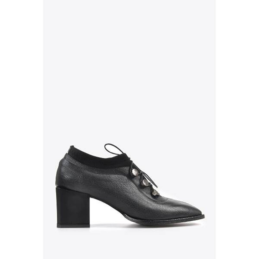 Vizon Ayakkabı Kadın  Siyah Klasik Topuklu Ayakkabı VZN20-012K